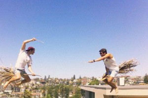 Скоростные таджики летающие на метлах