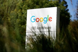 MOUNTAIN VIEW, CA - SEPTEMBER 02: The new Google logo is displayed on a sign outside of the Google headquarters on September 2, 2015 in Mountain View, California. Google has made the most dramatic change to their logo since 1999 and have replaced their signature serif font with a new typeface called Product Sans.   Justin Sullivan/Getty Images/AFP